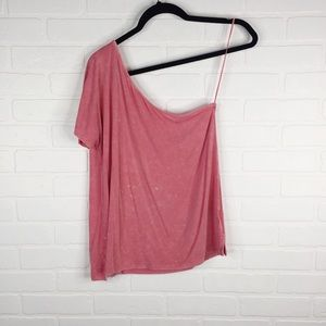 American Eagle One Shoulder Soft & Sexy T Pink